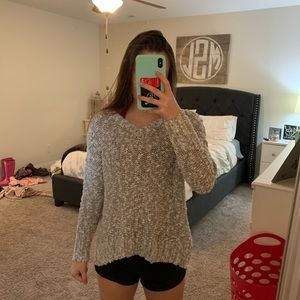 Open backed sweater from Hollister